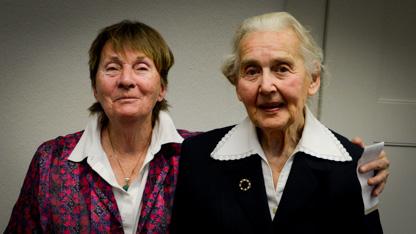 Ursula Haverbeck im Amtsgericht Bad Oeynhausen, 11.10.2016. Foto: Julian Feldmann